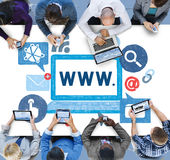 Begrepp för world wide webinternetonline-illustration Royaltyfria Bilder