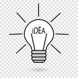 Begrepp-idén ljuset på endragen lampa vänder på Royaltyfri Fotografi