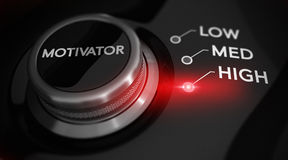 begrepp isolerad motivationwhite royaltyfri illustrationer