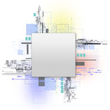 begrepp isolerad teknologiwhite Royaltyfri Bild