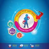 Begrepp Logo Gold Kids för för ungeomegakalcier och vitamin Royaltyfri Foto