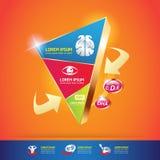 Begrepp Logo Gold Kids för för ungeomegakalcier och vitamin vektor illustrationer