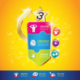 Begrepp Logo Gold Kids för för ungeomegakalcier och vitamin Royaltyfri Fotografi