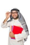 Begrepp med den isolerade arabiska mannen Royaltyfri Bild