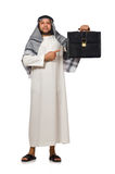 Begrepp med den isolerade arabiska mannen Royaltyfria Bilder