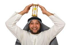 Begrepp med den isolerade arabiska mannen Royaltyfri Foto