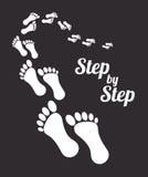 Begrepp med mänskliga fotspår royaltyfri illustrationer