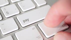 Begrepp och e-bankrörelsen för elektronisk betalning lager videofilmer