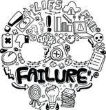 Begrepp och metafor för affärsfel stock illustrationer