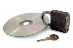 Begrepp: säkrad datadiskett Fotografering för Bildbyråer
