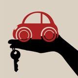 Begrepp som köper en bil Arkivfoto