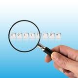 begrepp som söker lösningen arkivfoton