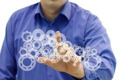 Begrepp som symboliserar en teknik och en innovatoin Arkivfoton