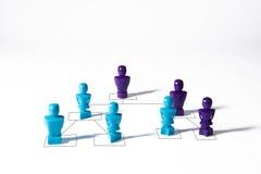Begrepp som visar det företags diagrammet för organisatorisk hierarki Royaltyfri Fotografi