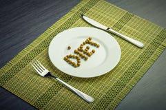 Begrepp: sund mat och bantar. Royaltyfria Foton