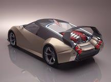 Begrepp Supercar Arkivfoton