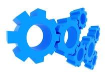 begreppet 3d gears teamwork Arkivfoto