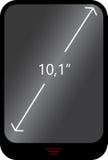 Begreppet av den mobila grejen med en indikering av skärmdiagonalen Royaltyfri Foto