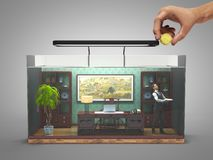 Begreppet av det inskränkta valet, socialt uteslutande, funktionsdugligt kontor royaltyfri illustrationer