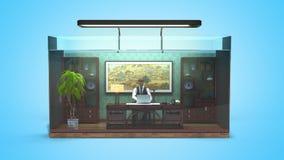 Begreppet av det inskränkta valet, socialt uteslutande, funktionsdugligt kontor stock illustrationer