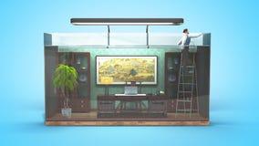 Begreppet av det inskränkta valet, socialt uteslutande, funktionsdugligt kontor vektor illustrationer