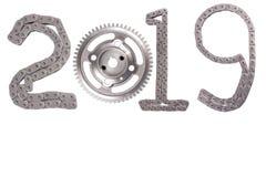 Begreppet av det nya året, tvåtusen nitton arkivfoton