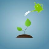 Begreppet av ekologiskt återställande Bevattna a stock illustrationer