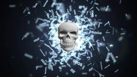 Begreppet av en hackerattack på serveren Röd pil med DDOS-attackslogan på en grå bakgrund royaltyfri illustrationer