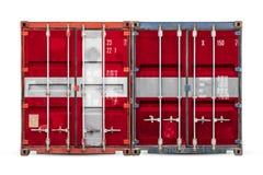 Begreppet av export-importen och nationell leverans av gods stock illustrationer