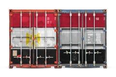 Begreppet av export-importen och nationell leverans av gods royaltyfri bild