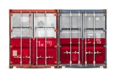 Begreppet av export-importen och nationell leverans av gods arkivbilder