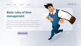 Begreppet av företagstidledning stock illustrationer