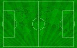 Begreppet av fotboll till bakgrunden. Arkivbild