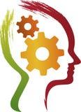 Begreppet av fungera av den mänskliga hjärnan Arkivbild