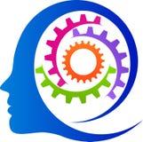 Begreppet av fungera av den mänskliga hjärnan stock illustrationer