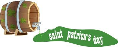Begreppet av inskriften för dag för St Patrick ` s på en bakgrund av vektor illustrationer