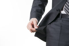 Begreppet av konkurs - töm facket Arkivfoton
