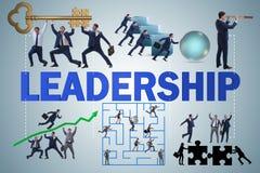 Begreppet av ledarskap med många affärslägen vektor illustrationer