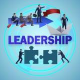 Begreppet av ledarskap med många affärslägen stock illustrationer