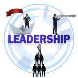 Begreppet av ledarskap med många affärslägen royaltyfri illustrationer