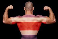 Begreppet av nationell stolthet och patriotism arkivbilder