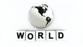 Begreppet av ordet VÄRLD Vad gör ordfreden Världen stock illustrationer