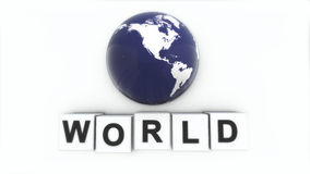 Begreppet av ordet VÄRLD Vad gör ordfreden Världen vektor illustrationer