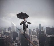 Riskerar och utmaningar av affärsliv royaltyfri foto
