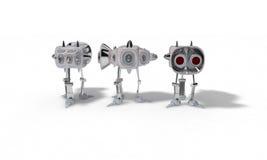 Begreppet av roboten för att använda är utrymme, 3d framför stock illustrationer