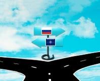 Begreppet av Ryssland och NATO Royaltyfria Foton