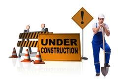 Begreppet av under-konstruktion för din webpage Royaltyfri Foto