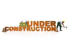 Begreppet av under-konstruktion för din webpage Arkivfoton
