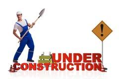 Begreppet av under-konstruktion för din webpage Royaltyfri Fotografi