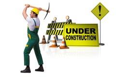 Begreppet av under-konstruktion för din webpage Fotografering för Bildbyråer